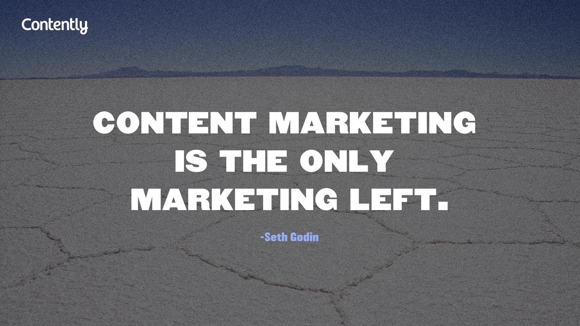 Seth Godin quote content marketing